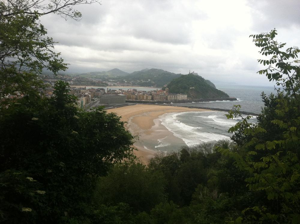 View of San Sebastian and Biscay Bay