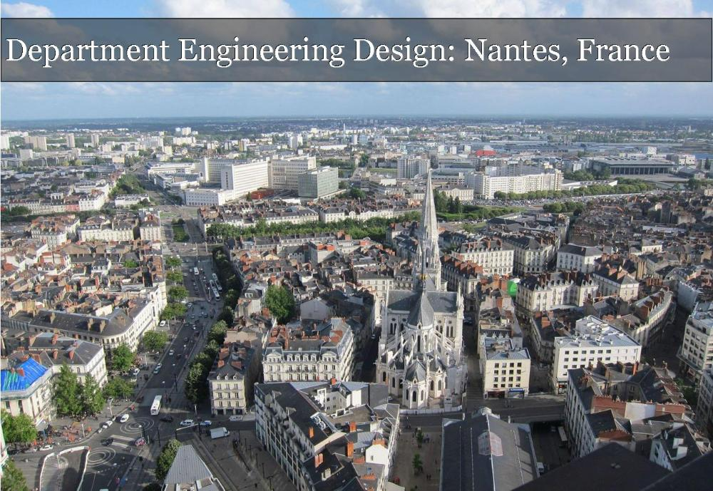 Department Engineering Design Nantes France_City view of Nantes