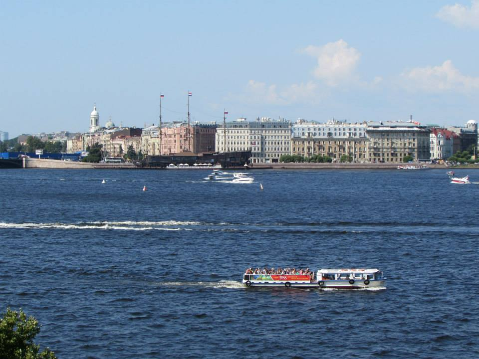 View of the Neva River from the Hermitage in St. Petersburg