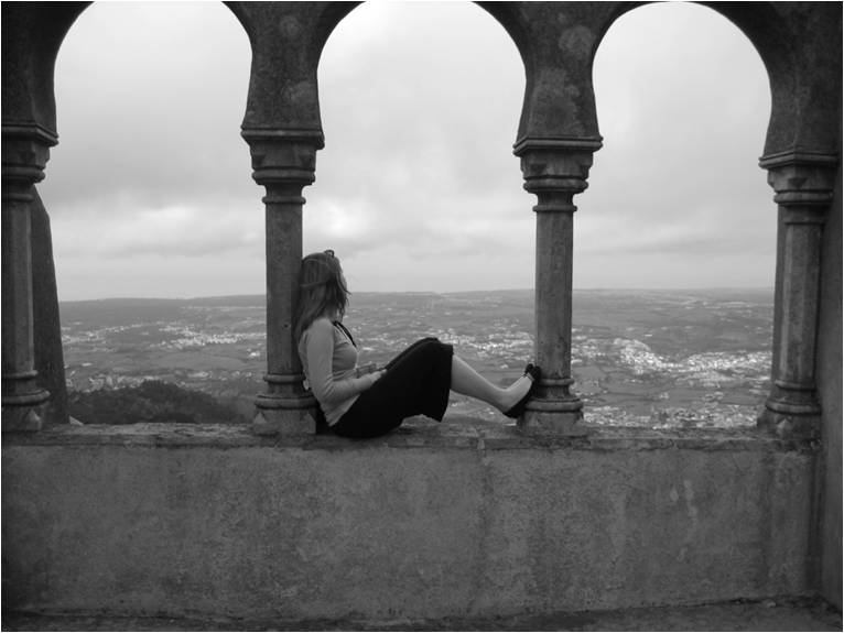 Portugal -girl looking at view