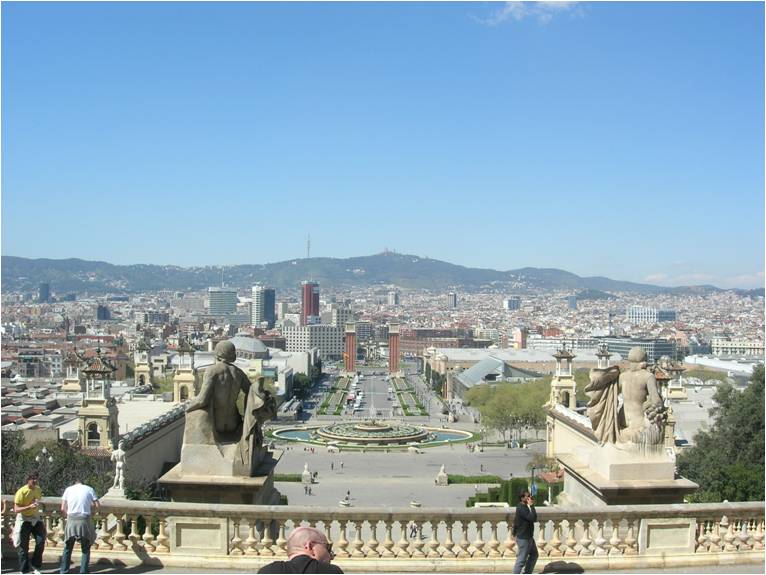 View of the city of Barcelona
