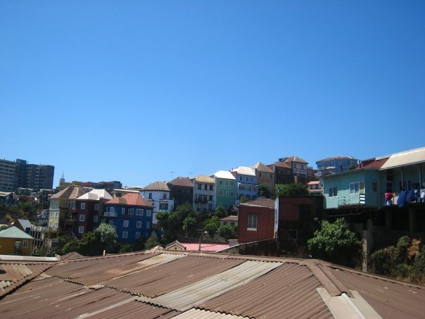 Rooftops of Chilean homes