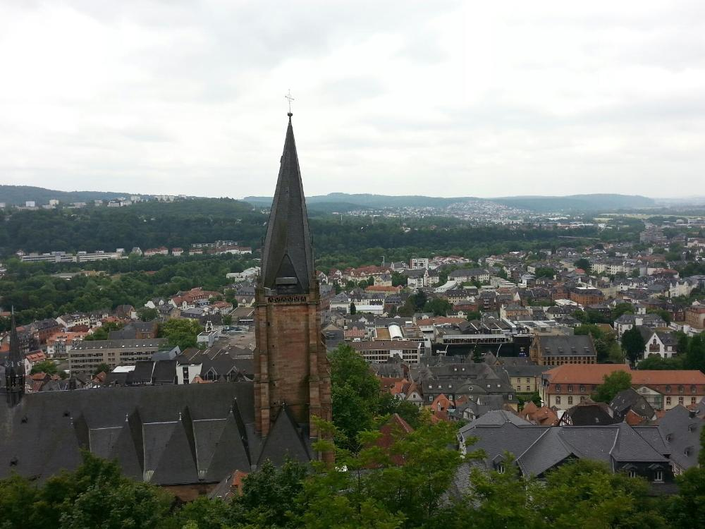 Marburg from the Schloss