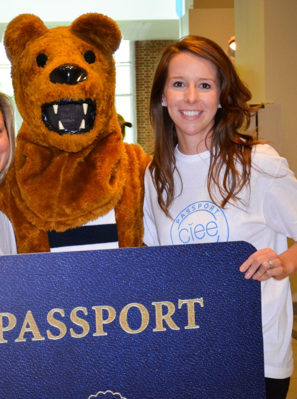 Kate and the Nittany Lion