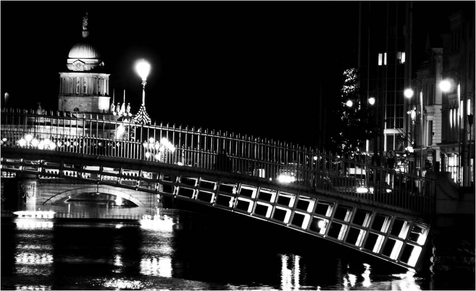 Nighttime View of Dublin