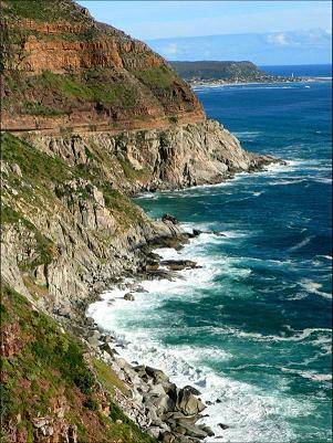 Coastal view of Capetown