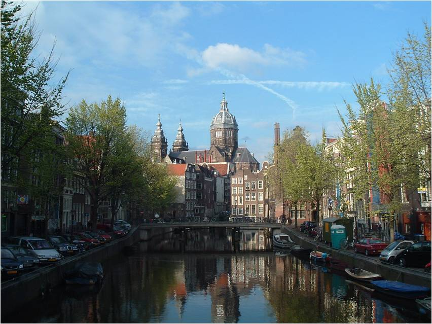 Amsterdam Buildings on the water