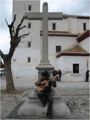Spanish guitar player